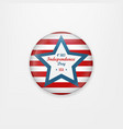 stylish american independence day design badge vector image