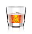object whiskey with ice vector image vector image