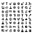 big business success icons set vector image
