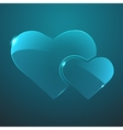 glass two hearts icon Eps10 vector image