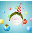 White Christmas billboard vector image vector image