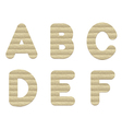 Embossed cardboard Letters vector image vector image