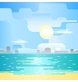 Beautiful beach landscape vector image