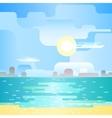 Beautiful beach landscape vector image