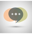 Chat icon a gray background vector image