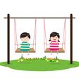 Children on Swing vector image