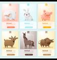 Farm animals banner for web design vector image