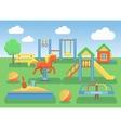 Kids playground flat concept background Slide vector image