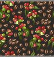 pattern with coffee vector image