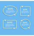 Quote outline frames with commas set vector image