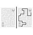 Rabbit maze vector image