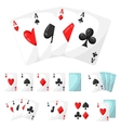 Set of casino gambling aces cards for design vector image