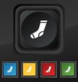 socks icon symbol Set of five colorful stylish vector image