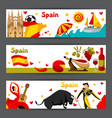 spain banners design spanish traditional symbols vector image