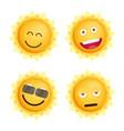 sun icon set flat vector image