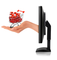 online shopping vector image