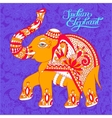 original indian pattern with elephant and vector image