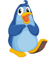 Cool penguin vector image