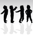 boy in various pose silhouette vector image