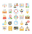 banking and finance colored icons 5 vector image