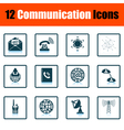 Communication icon set vector image