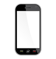 Generic Smart Phone isolated over white vector image