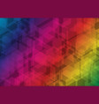 multicolor hexagon futuristic business overlay vector image