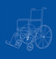 sketch of wheelchair vector image
