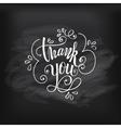 Thank you on chalkboard vector image