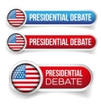 USA Presidential debate vector image