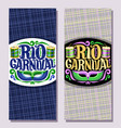 vertical banners for rio carnival vector image