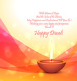 diwali festival card template vector image