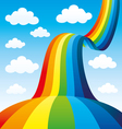Beautiful rainbow in the sky vector image