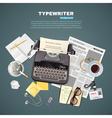 1608i107025Sm005c11journalist typewriter vector image