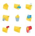 Communication via internet icons set vector image