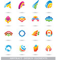 ABSTRACT COLORFUL DESIGN ELEMENTS or ICONS vector image