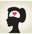 Heart in a head2 vector image