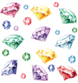 Seamless pattern from diamonds vector image vector image