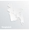 Abstract icon map of Bangladesh vector image