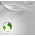 Concept technology background with waves and globe vector image vector image