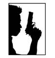 Guy with gun vector image