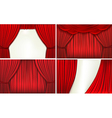 Red velvet curtains vector image