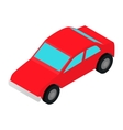 Red car isometric 3d icon vector image vector image