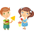 children builder painter isolated vector image vector image