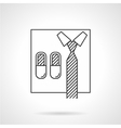 Abstract icon for online business vector image