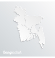 Abstract icon map of Bangladesh vector image