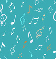 Abstract seamless pattern with music notes vector image
