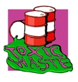 barrels of toxic waste vector image