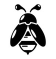 bee icon simple black style vector image