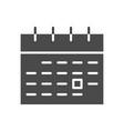 calendar solid icon vector image